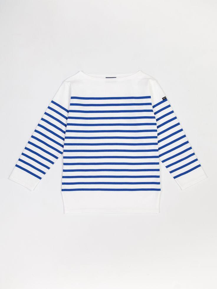 Saint James NAVAL II Boat Neck Unisex Striped Shirt