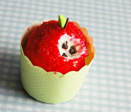 Ice Ceam Apples for Rosh Hashanah: Parties Frostings, Schools Parties, Back To Schools, Minis Dog Qu, Ice Cream Cupcakes, Jewish Holidays, Ice Cream Apples, Parties Ideas, Minis Desserts