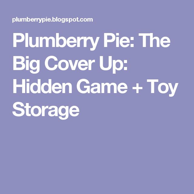 Plumberry Pie: The Big Cover Up: Hidden Game + Toy Storage