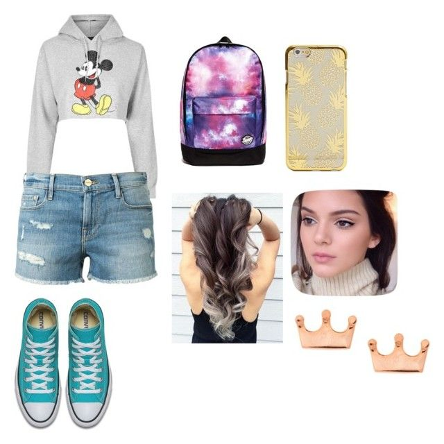 """""""mouse"""" by cocoblair25 on Polyvore featuring Topshop and Frame Denim"""
