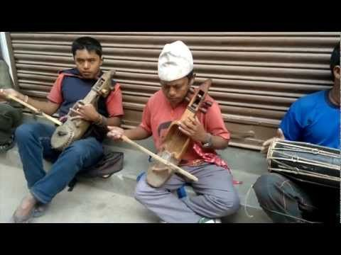 Listen to this gorgeous, gorgeous Nepali song accompanied by Nepali instruments. In mid-80's Bhutan, over 1/6 of the population--100,000 people--were deported from the country, nearly all of them of Nepali heritage. Many Bhutanese of Nepali heritage have resettled in Cleveland, Ohio, and in March, a group of them will be performing a song not unlike this one with CityMusic Cleveland Chamber Orchestra. See http://www.indiegogo.com/projects/music-celebrating-refugees