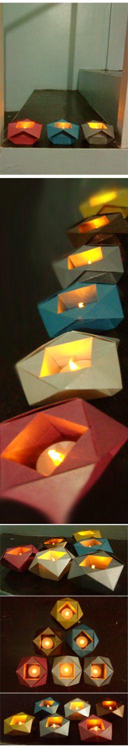 Origami Paper Lanterns Christmas Lights