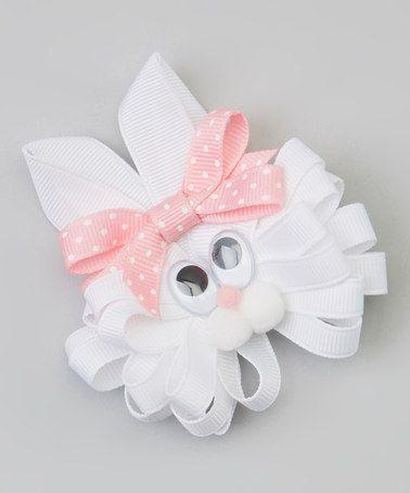 Conejito blanco con moñito a lunares Stel:-)