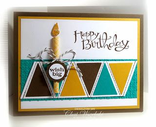 Me, My Stamps and I: Stampin' Up! Pennant Punch Birthday