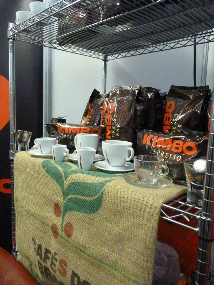 Kimbo display at the London Coffee Festival #coffee #kimbo