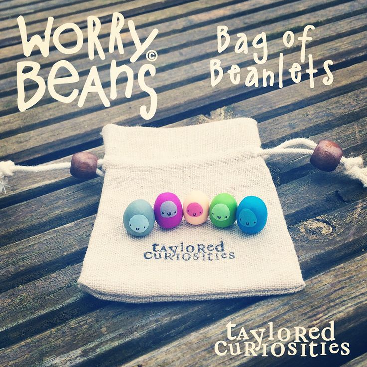Bag of Beanlets: Worry Beans! Available from my store now www.tayloredcuriosities.bigcartel.com      Copyright protected.
