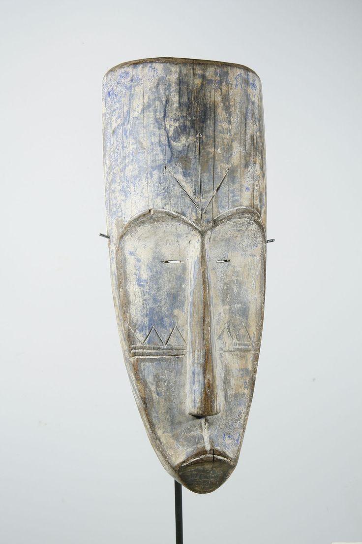 Masque Fang africain du Gabon 10-231  60  : Galerie Art Africain : masques et statues africaines, décoration et arts primitifs Afrique