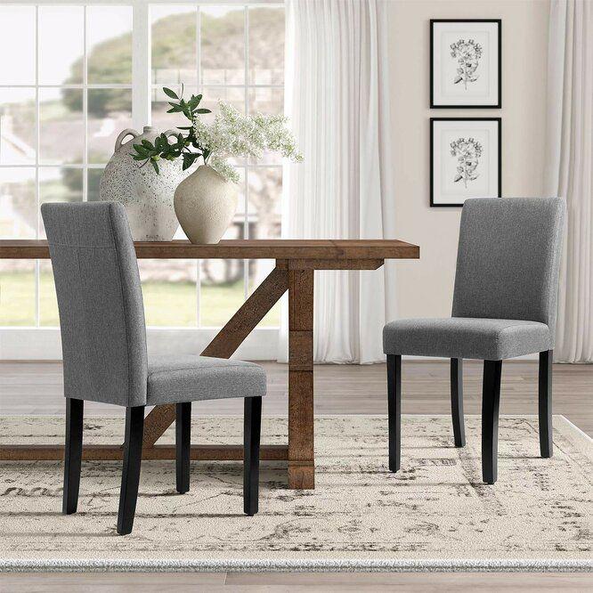 Fellsburg Upholstered Dining Chair In 2020 Oak Dining Room