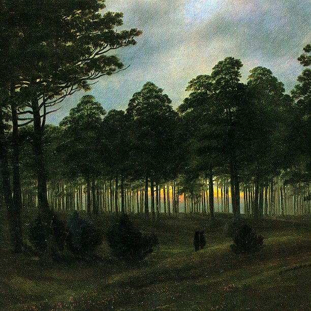 Caspar David Friedrich, The evening, 1820-1821