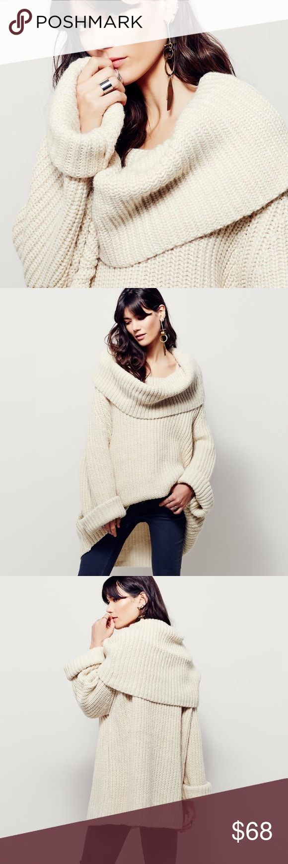 """Lofty Oversized Sweater TOP Extreme Cowlneck NEW BRAND NEW!! Oversized, alpaca-blend tight-knit pullover featuring an exaggerated cowl neckline. Slouchy, relaxed silhouette for an effortless fit. 🌟Similar style by Free People.🌟  *14% Polyamide *15% Alpaca *15% Wool *56% Acrylic   S: Bust: 51.2""""/Length: 28.2"""" M: Bust: 52.8""""/Length: 28.8"""" L: Bust: 54.3""""/Length: 29.4"""" XL: Bust: 55.9""""/Length: 30.2""""  🌟Item is Brand New, direct from the Manufacturer, & Sealed in Pkg.🌟 austin gal Sweaters"""