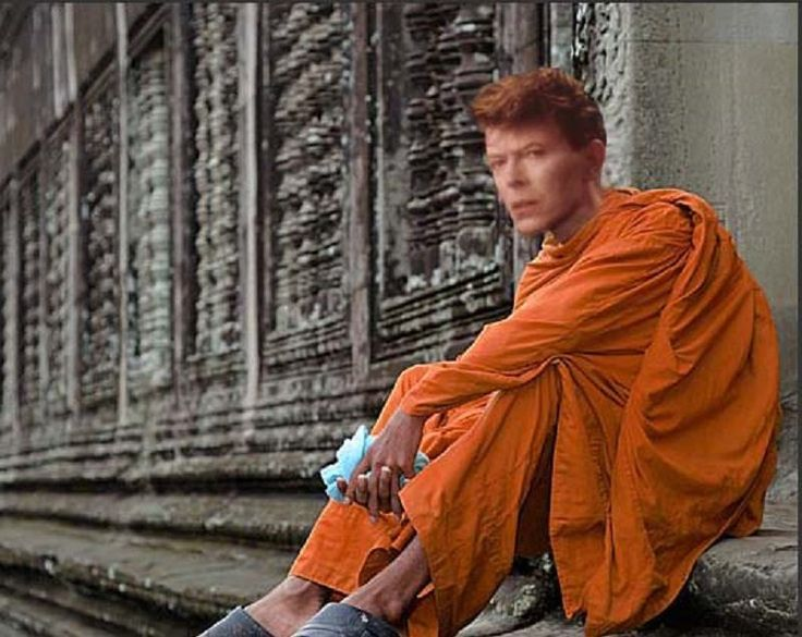"""Young David Jones (David Bowie's real name) was 13 when he developed an interest in Buddhism. """"I was within a month of having my head shaved, taking my vows, and becoming a monk,"""" Bowie said about this period of his life. The year was 1967. David Bowie was 20. Young David Jones (David... #monk"""