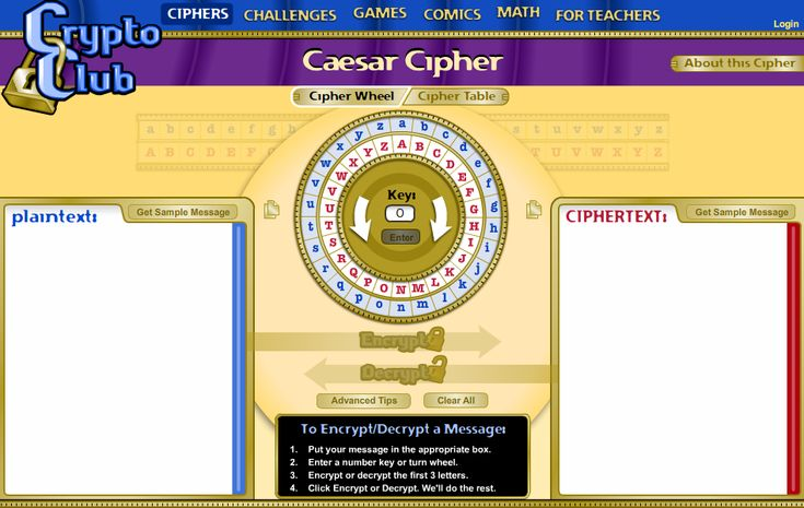 Caesar Cipher demo