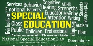 National Special Education Day - December 2