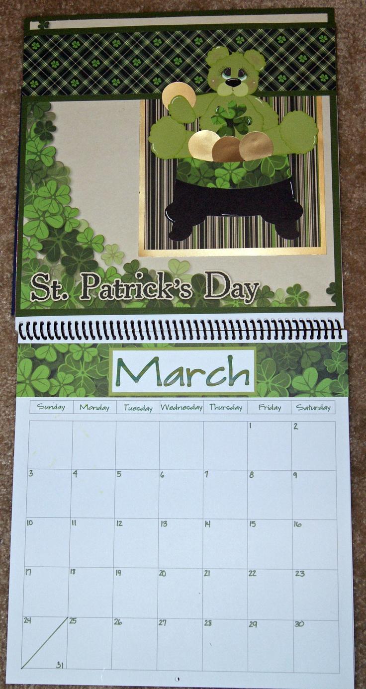 Scrapbook ideas calendar pages - Calendar Using Lucky Me