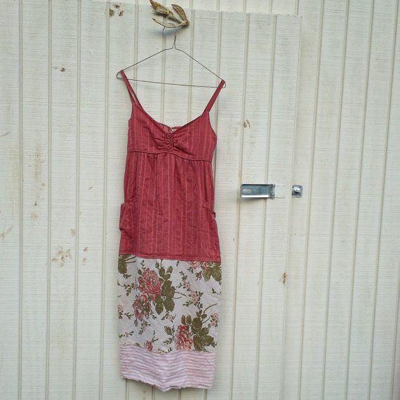 upcycled clothing / Funky Romantic Babydoll Tank by CreoleSha, $67.99