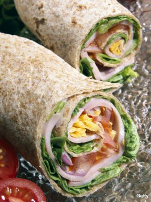 Wraps are a better solution to bread. Preferable brown wraps. Fill with meat and healthy shizzle