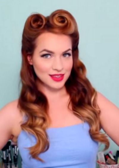 pin up styles for long hair pin up hairstyles that you ll doing yourself 6204 | 258527662973e0abf5dcf9eaada8d967 old fashioned hairstyles victory roll hair