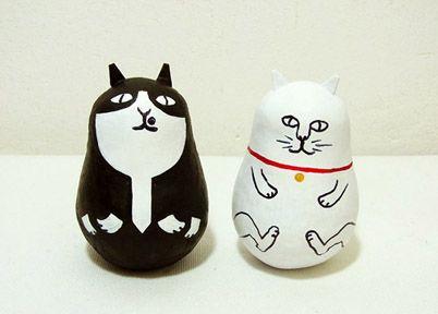 ミネットオリジナル三原猫だるま - ミネットはご当地マスキングテープ、オリジナルマスキングテープ、Si-Si-Si、倉敷意匠計画室、つくし文具店、文房具を集まった広島の雑貨店です。