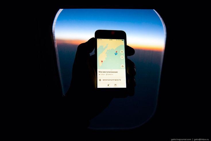 Линия перемены дат. Перелёт с Камчатки на Аляску через Тихий океан.