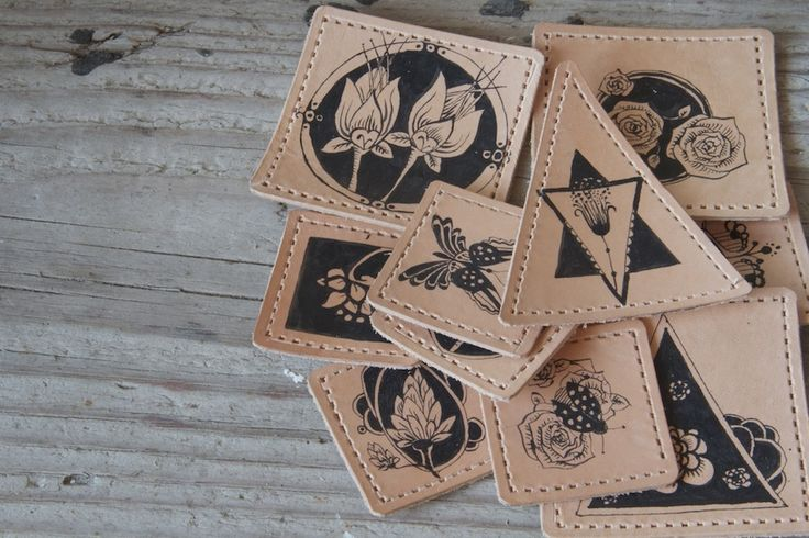HJN Leather Craft Co. Patches #leather #art #drawing #patches #graphic