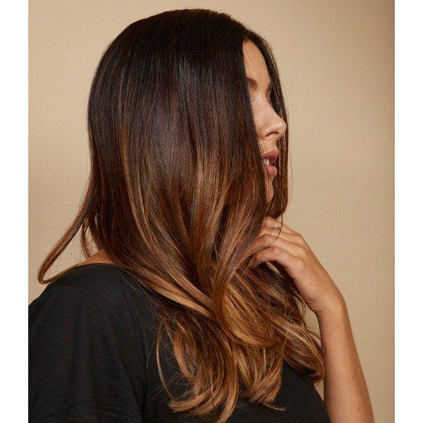 Blended Brunette Balayage On Long Layers Using Redken Color Balayage Brunette Global Hair Color Redken Color