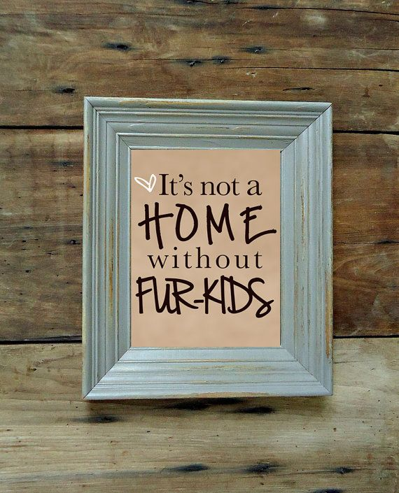 It's not a home without fur-kids Wall Art Print - Dog Quote - Pet Quotes on Etsy, $17.00