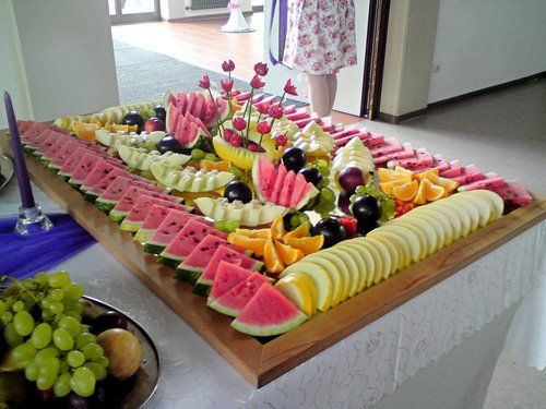 Fruit bar... I will have a healthy wedding one day!