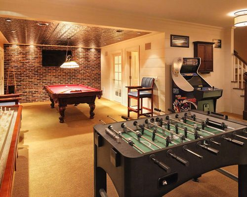 Lovely Basement Game Room Ideas For Well Basement Game Room Home Design Ideas  Pictures Modest Part 7