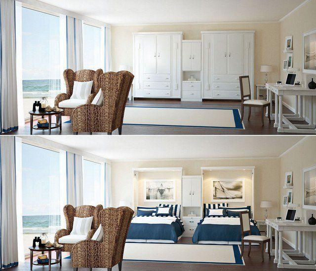 Les 25 meilleures id es concernant deux lits jumeaux sur - Petite chambre a coucher design ...