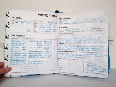 Make a Sewing Journal « Sew,Mama,Sew! Blog [FREE PDF Sheet to Download :) !]