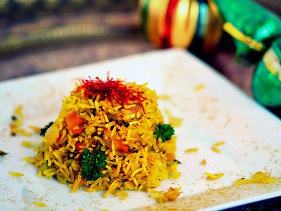 Riso al vapore con curcuma e verdure - Una ricetta sana speziata e gustosissima! #RicetteNatalizie