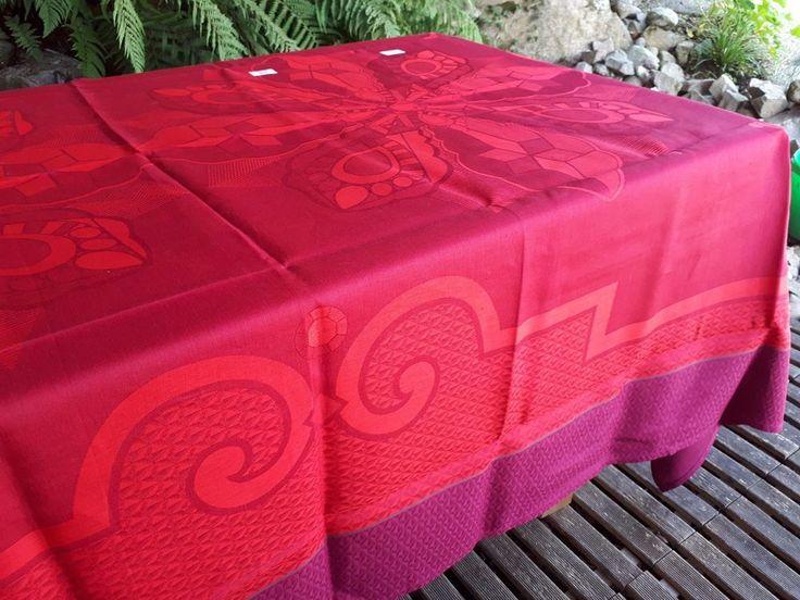Unique Le Jacquard Francais Tablecloth X DIAMANT RUBY LINEN MADE IN