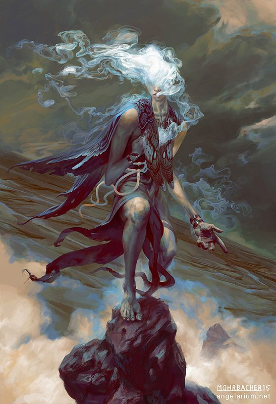 Sathariel, Angel of Deception - The Watchers (part 1) by Peter Mohrbacher - Behance