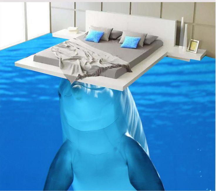Море пляж этаж наклейки 3D обои этаж для гостиной ПВХ водонепроницаемый пол Украшения Дома