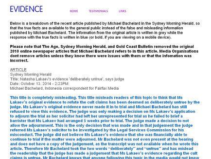 Evidence to vindicate Natasha Lakaev