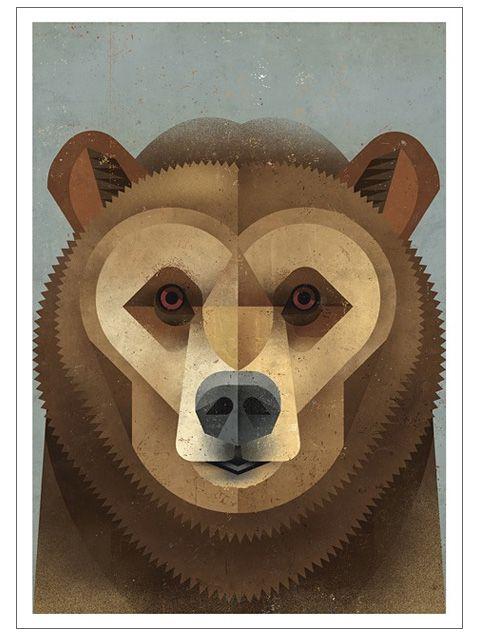 Kodiak Bear Card by Dieter Braun