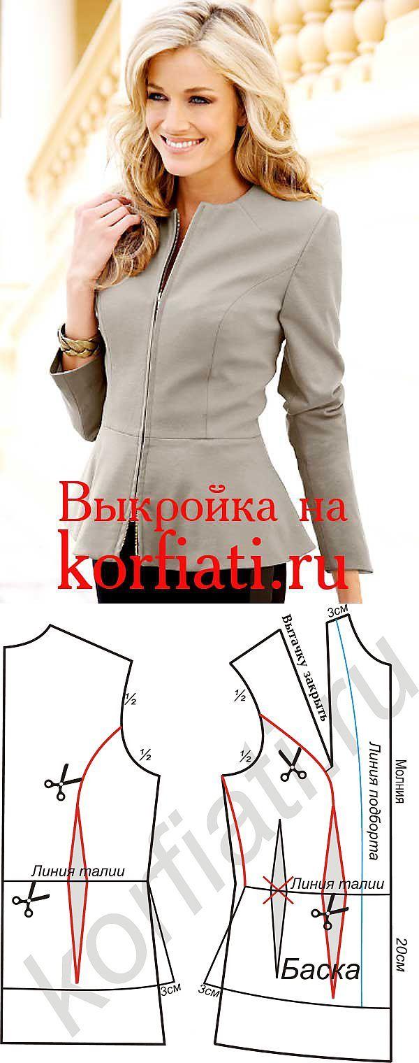 COSTURA DE LA ESCUELA: chaqueta Patrón de Anastasia Korfiati