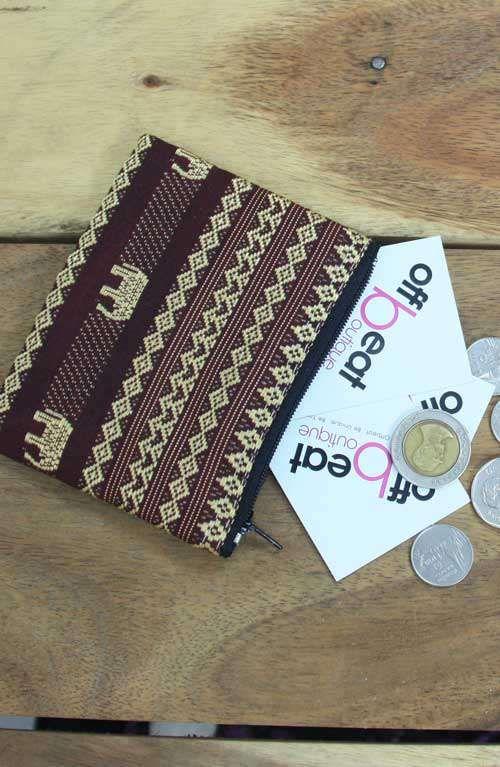 a cute elephant print coin purse