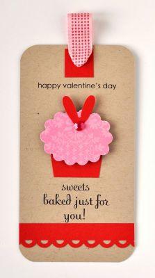 Gift tag: Valentine Idea, Tags Ideas, Valentine Tags, Valentine Cupcake, Valentines Day Weddings, Gift Tags, Cupcake Tags