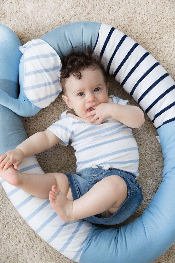 Crib bumper - baby bumper - cot bumper - baby crib bumper - long pillow - crib bedding - in light  blue by bubabella on Etsy https://www.etsy.com/listing/102251660/crib-bumper-baby-bumper-cot-bumper-baby