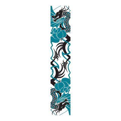 JP London UCLT9043 uStrip Lite Dragon Abstract Asian Flower Prepasted Wallpaper Mural