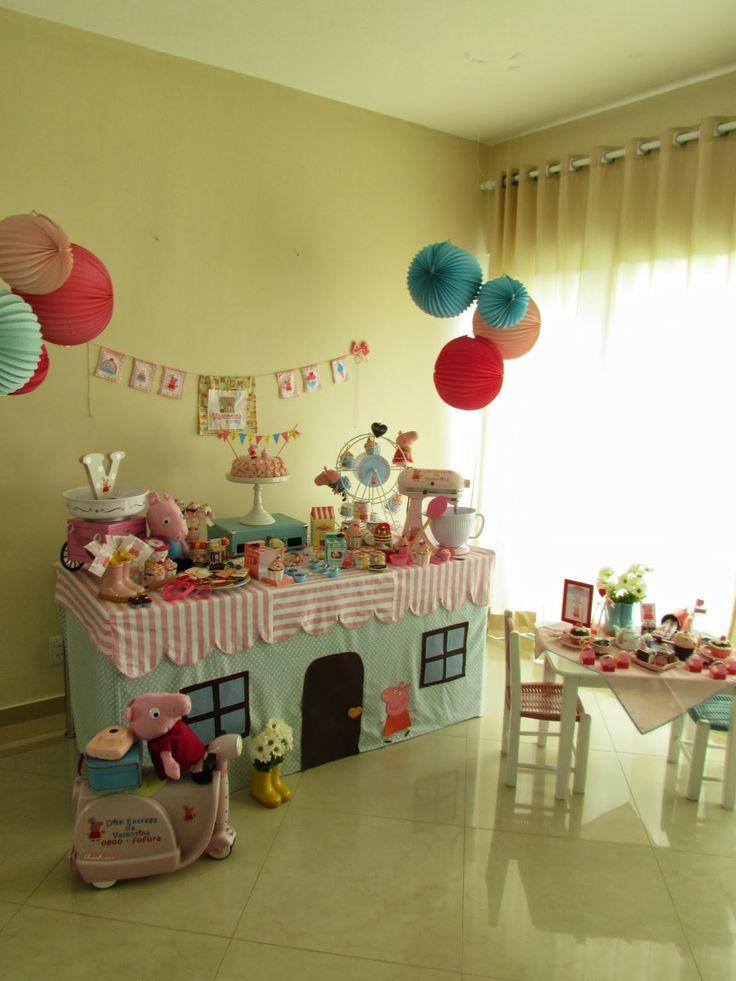 Festa Confeitaria da Peppa para os 4 anos da Valentina - Peppa Party   I Love Valentina