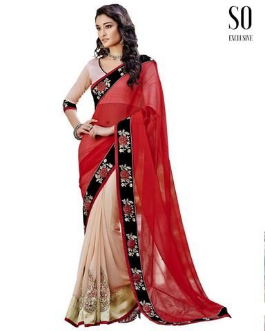 Sari Indien Rouge Simple Ankita