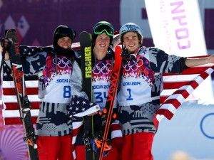 Americans sweep first-ever men's ski slopestyle Olympic podium - GOLD SILVER BRONZE!! USA USA USA!!! - Sochi Olympics 2014
