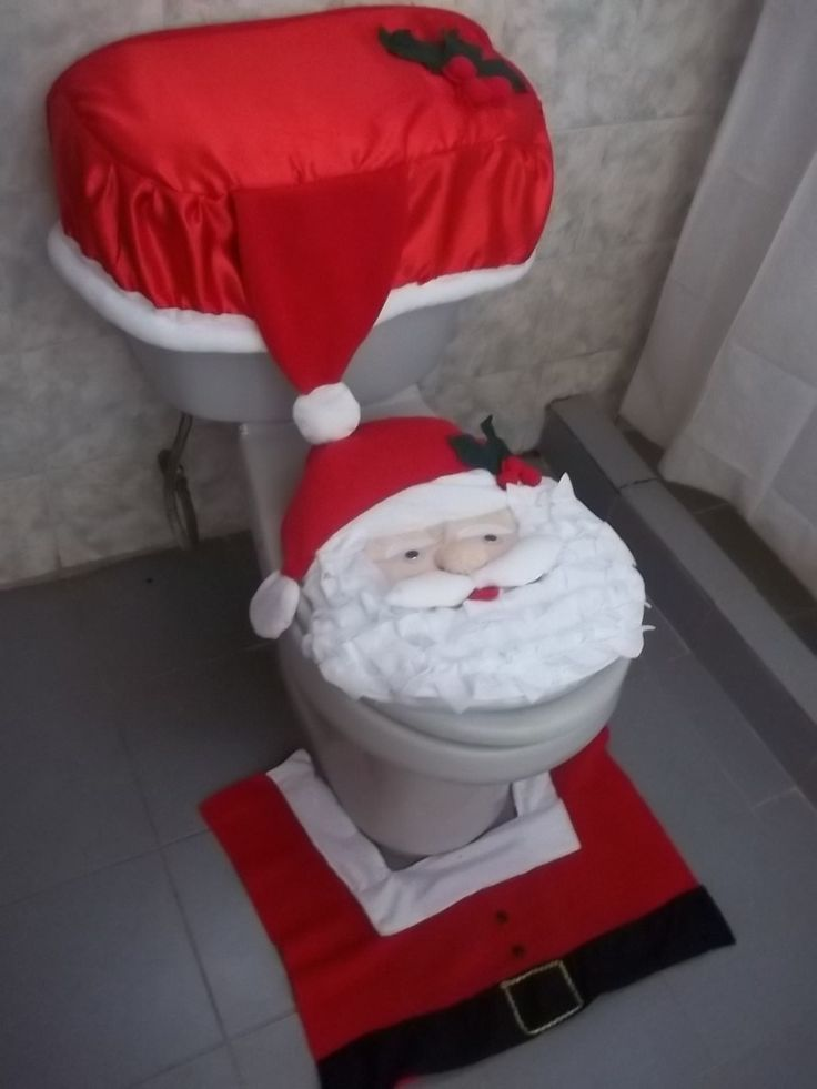 juegos de baño, de cocina y forros para sillas navideños