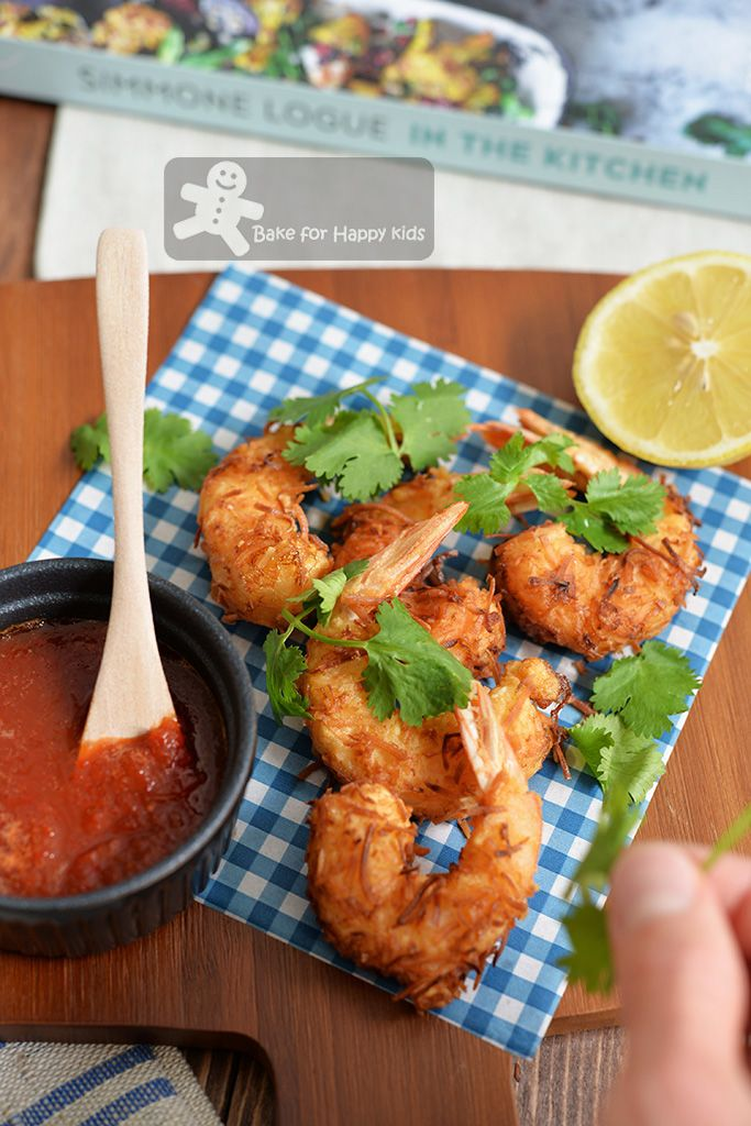 coconut prawns sweet chill ginger dipping sauce