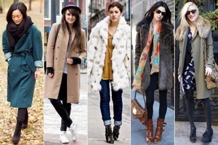 Модная стильная молодежная одежда пальто