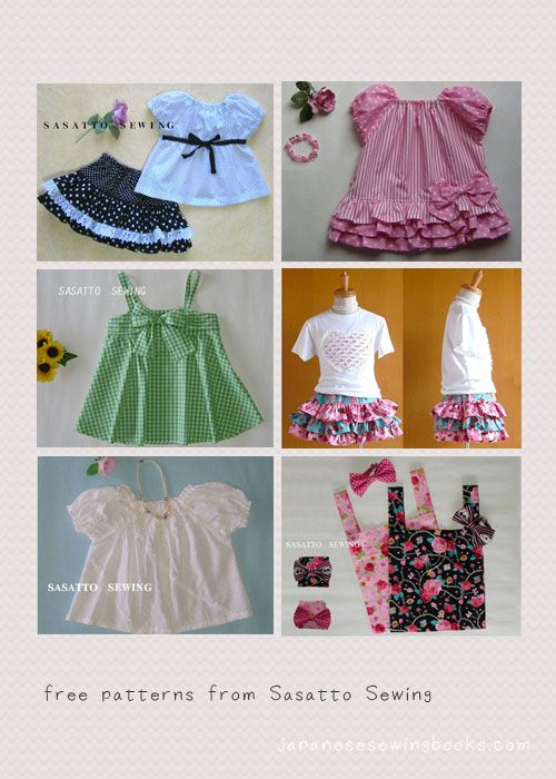 Free Japanese Sewing Pattern – Sasatto Sewing » Japanese Sewing, Pattern, Craft Books and Fabrics