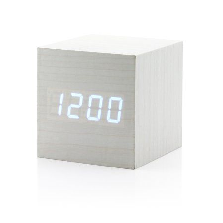 Ultra Modern Wooden LED Clock Square Cube Digital Alarm Thermometer Timer Calendar Updated 2016 Brighter LED - Walmart.com