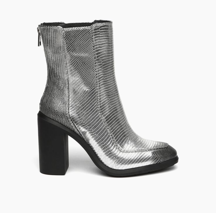 AW15   United Nude Stacey Silver Embossed Lizard Brushed Leather
